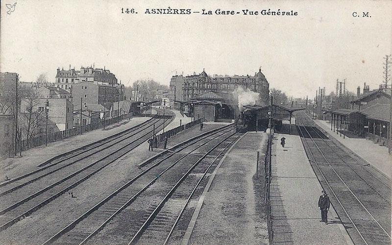 Gare d'Asnieres,  vue générale