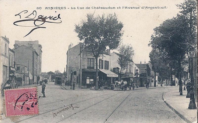 La rue Châteaudun et l'avenue d'Argenreuil