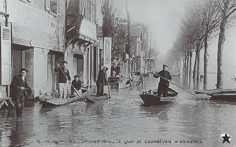 L'inondations en 1910