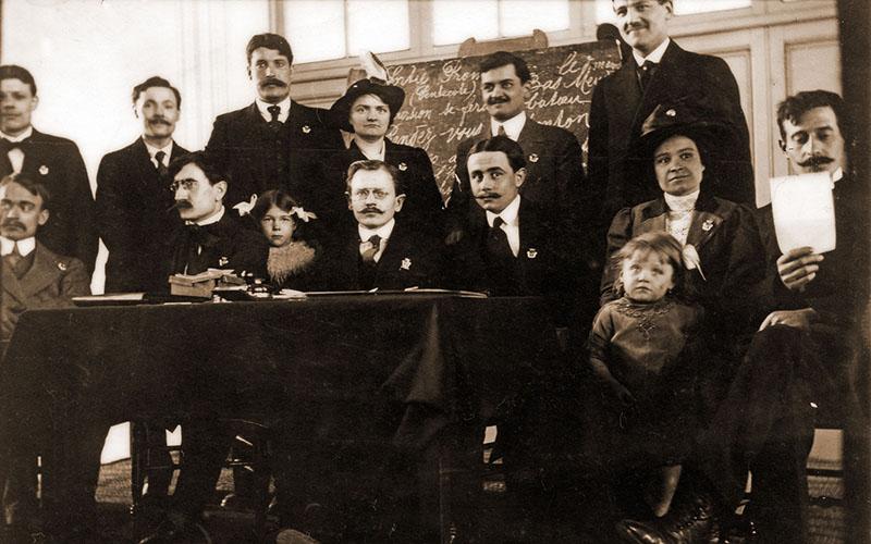 Les membres du Conseil d'administration de la Fraternelle en 1914