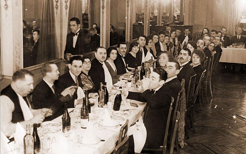 Banquet du 20e anniversaire de la Fraternelle d'Asnières en 1933