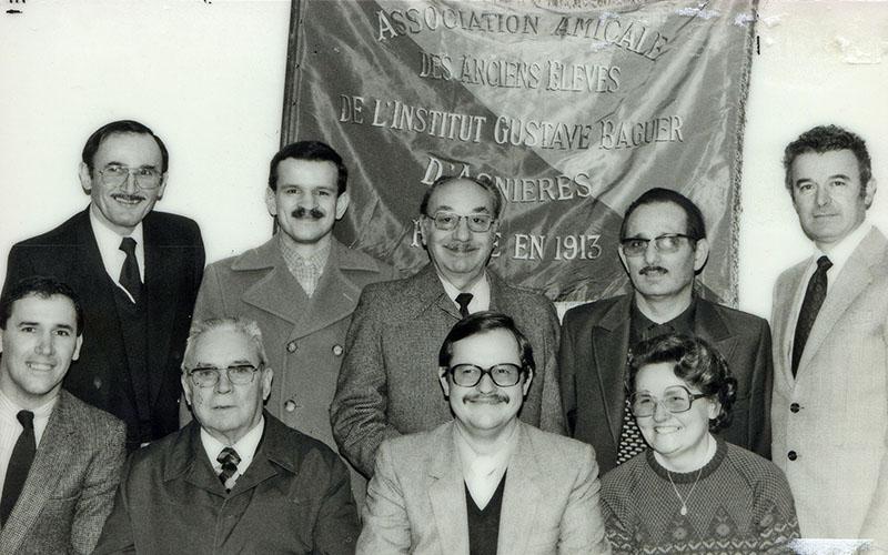 Les membres du Conseil d'administration de l'Amicale d'Asnières en 1983