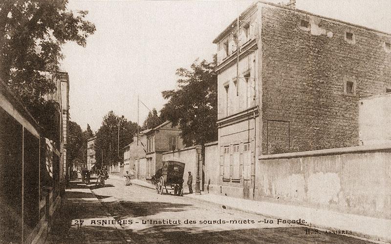 Façade de l'institut des sourds-muets en 1893