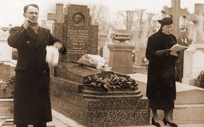 Les obsèques de M. Gustave Baguer décédé le 27 janvier 1919