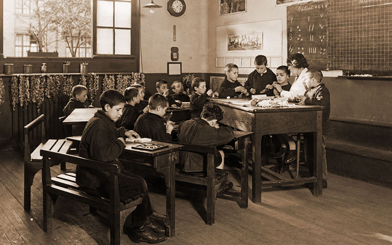 Classe des garçons en 1936