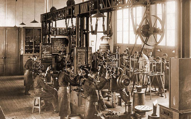 Atelier de fer en 1901