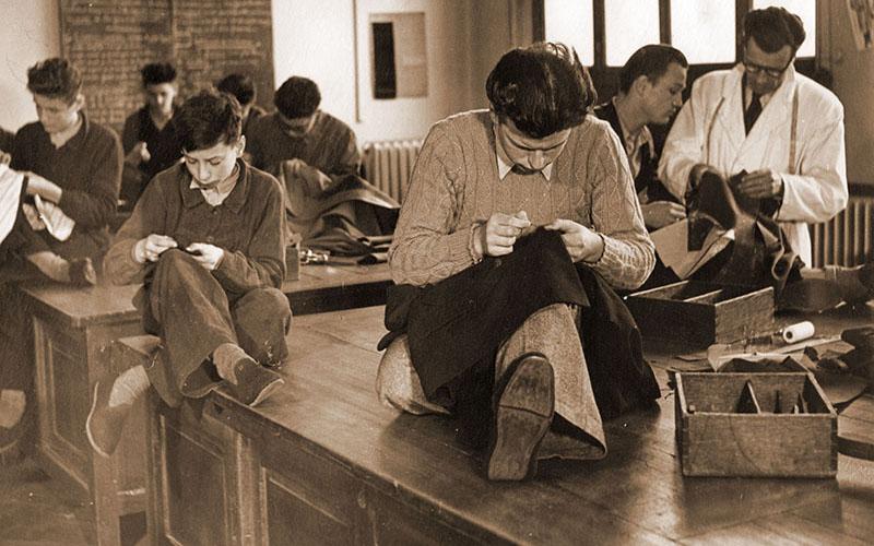 Atelier de tailleur en 1949